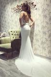 Vestido de novia Satén Natural Joya Espalda Descubierta Tallas pequeñas