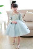 Vestido niña ceremonia Apliques Camiseta Joya primavera tul Natural