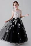 Vestido niña ceremonia Verano Hasta el Tobillo Cremallera Flores Rosetón Acentuado