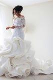 Vestido de novia Corte Sirena Pura espalda Iglesia Clasicos Botón Pomposo