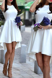 Vestido de cóctel Asimétrico Dobladillo Satén Verano Asimètrico Elegante