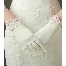 Guante de la boda Encaje Satén Clasicos