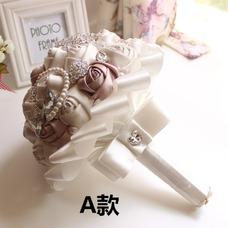 Un simple nuevo atmosférico diamante mano High-End de ramo de novia perla