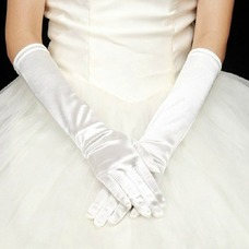 Guante de la boda Satén Elástico Otoño Formal