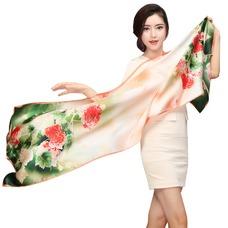 Bufanda de seda cálida bufanda de mulberry otoño invierno MS seda bufandas