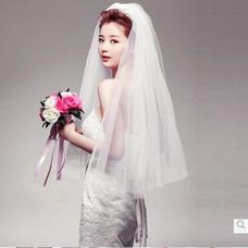 Velo de novia primavera Escalonado Glamouroso