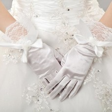 Guante de la boda Iglesia vendimia Lazos tafetán