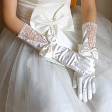 Guante de la boda Lazos Iglesia Elegante primavera Encaje