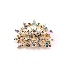 Grado superior de Phoenix diamante incrustaciones de aleación magnífico broche