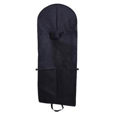 Tejido no tejido negro y vestido de guardapolvo grande bolsa guardapolvo plegado Vestido de novia