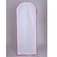 Blanco no tejido gran guardapolvo vestidos de novia