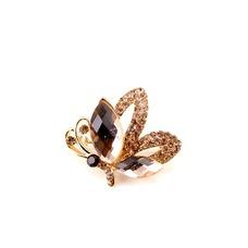 Broche de cristal brillante alta calidad refinamiento por mayor con incrustaciones de diamantes broche