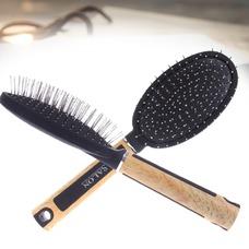 Masaje madera mango plástico negro antiestático salud adorno
