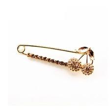 Venta caliente de la galjanoplastia PIN broche de mujer de cereza