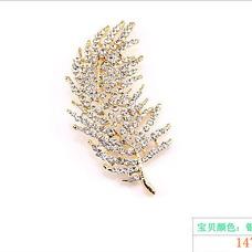 hoja del árbol todo partido aleación broche de joyería por mayor