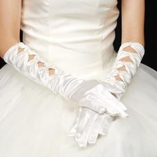 Guante de la boda Otoño vendimia Satén