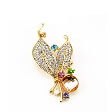 Mujeres con incrustaciones diamantes nuevo estilo broche de pasador de cristal venta por mayor