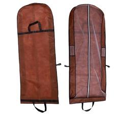 Brown vestido portátil de doble uso a prueba de polvo bolsa plegable cubierta de polvo del vestido de boda grande con palabras