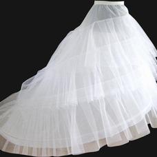 Rueda de elástico en la cintura dos moda que se arrastra la enagua del vestido de novia boda
