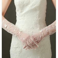 Guante de la boda Con lentejuelas sexy Otoño