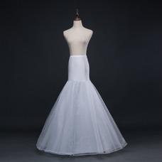 Marfil del corsé spandex nuevo estilo sirena enagua de la boda