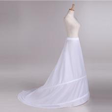 Cintura que se arrastra la enagua de la boda de Tafetán poliéster elástico en la cintura