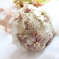 Tema de la boda ramo de novia ramo creativo cinta mano