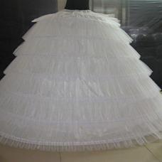Cintura vintage volante seis ruedas completo vestido enagua de la boda