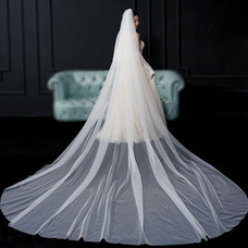 Velo de novia velo simple foto nupcial velo largo accesorios de boda