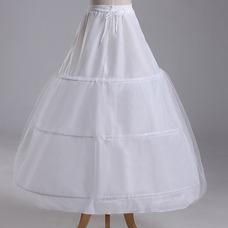 Cintura vestido lleno tres ruedas estándar nuevo estilo enagua de la boda