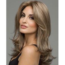 Rizado largo inclinado potro largo rizado adecuados para peluca de las mujeres