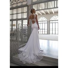 Vestido de novia Playa Cola Capilla Corte Sirena sexy Satén Elástico