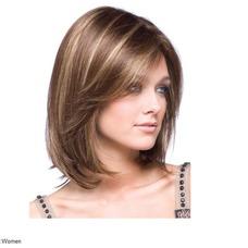 Corto recto de alta temperatura el material conveniente para las mujeres peluca