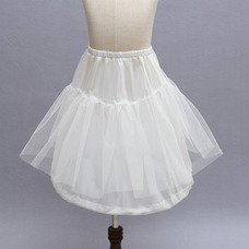 Niños blanco vestido muy fuerte red glamorosa boda frameless enagua