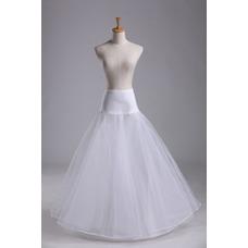 Enagua de moda novia de material elástico de cintura elástica de vestido de boda