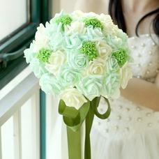 El estudio de novia ramo de novia mano accesorios bouquet