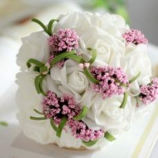El ramo novia dama de honor boda mano de simulación flor bouquet
