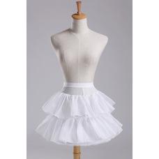 Enagua de la boda red fuerte de vestido corto moda cintura elástico