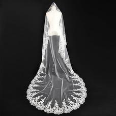 Velo de novia Otoño Apliques Glamouroso Diosa vestido de novia