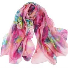 El nueva sombra protector solar impresión largo mantón de la bufanda