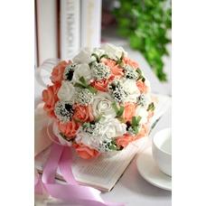 Rosa por todas partes de la flor decorativa de la combinación de estrellas de cielo