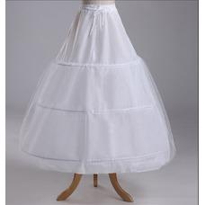 Ruedas de diámetro tafetán poliéster ajustable tres enagua de la boda