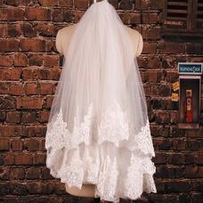 Velo de novia Verano Fuera de casa Moderno Encaje Diosa vestido de novia