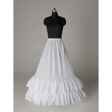 Perímetro de cintura elástico estándar boda vestido dos llantas enagua de la boda