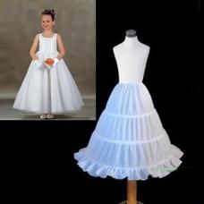 Tres niños de rueda fácil cintura elástico vestido enagua de la boda