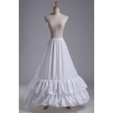 Ajuste del cordón de la sirena dos llantas moda poliéster tafetán boda enagua
