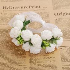 La doble corona de pelo accesorios de fotografía de corona de novia