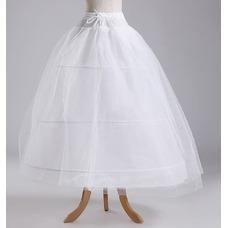 Ruedas de poliéster elegante estándar ajustable tres tafetán de la boda enagua