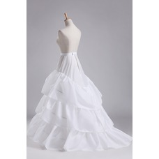 Volante elástico en la cintura total vestido poliéster tafetán boda enagua