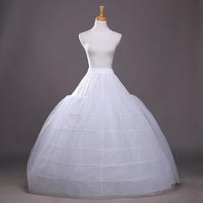 Ancho extensible elegante seis ruedas la boda la enagua de la boda